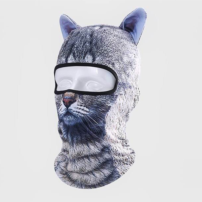 1 Pcs Thin 3D Animal Outdoor Cycling Ski Face Mask Neck Hood Full Face Mask Hat GDD99