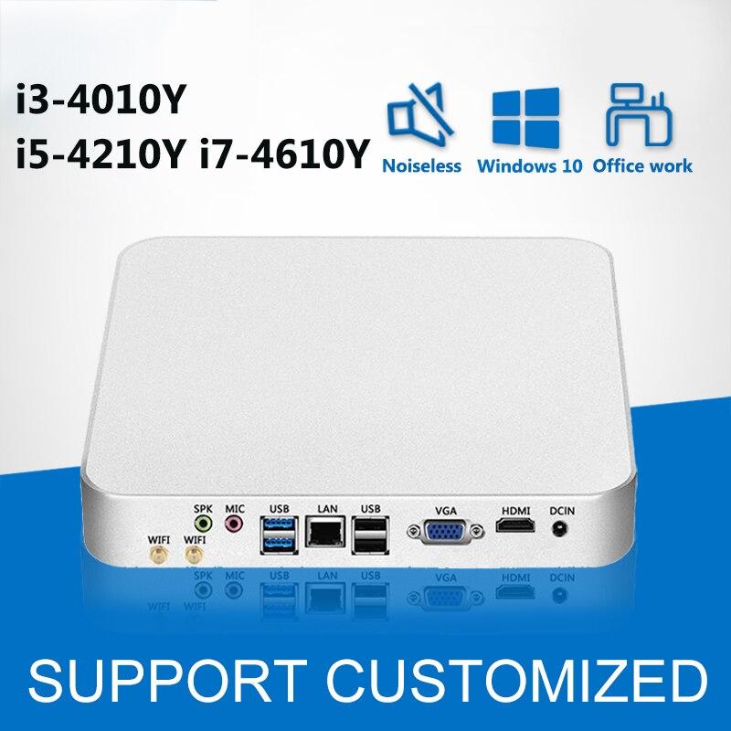 Mini PC Barebone Intel Core i5 4210Y i3 4010Y Finestre 10 Mini Computer NUC Nettop Desktop minipc HD Graphics 4200 WIFI HDMI HTPC
