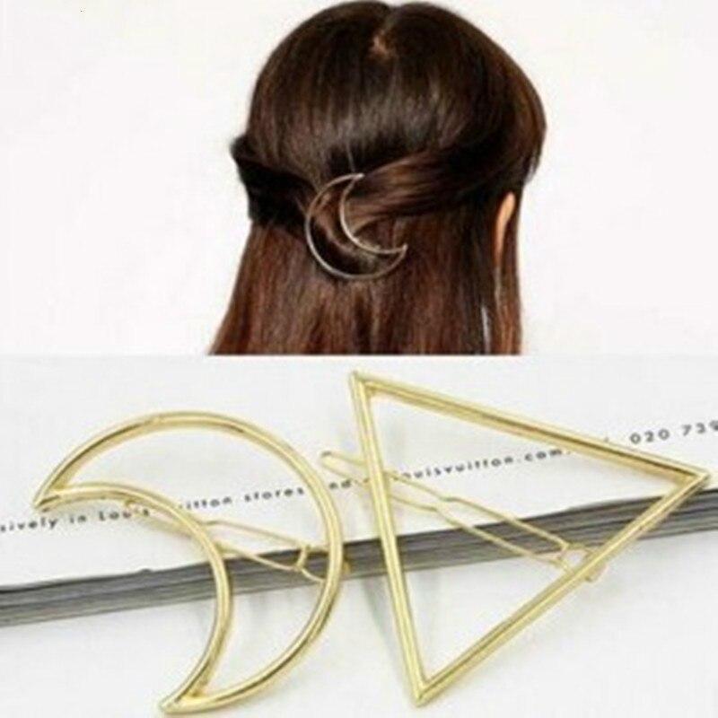 Exaggerated Retro Triangle Moon Zinc Alloy Hair Accessories Wedding Hair Accessories Bridal