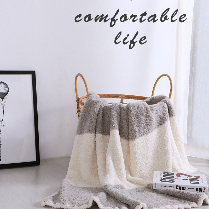 2017 New Leisure Plaid Fleece Blankets on the Bed Plush Bedspread Mantas Cobertor De Casal Children Blanket Winter TV Sofa Cover