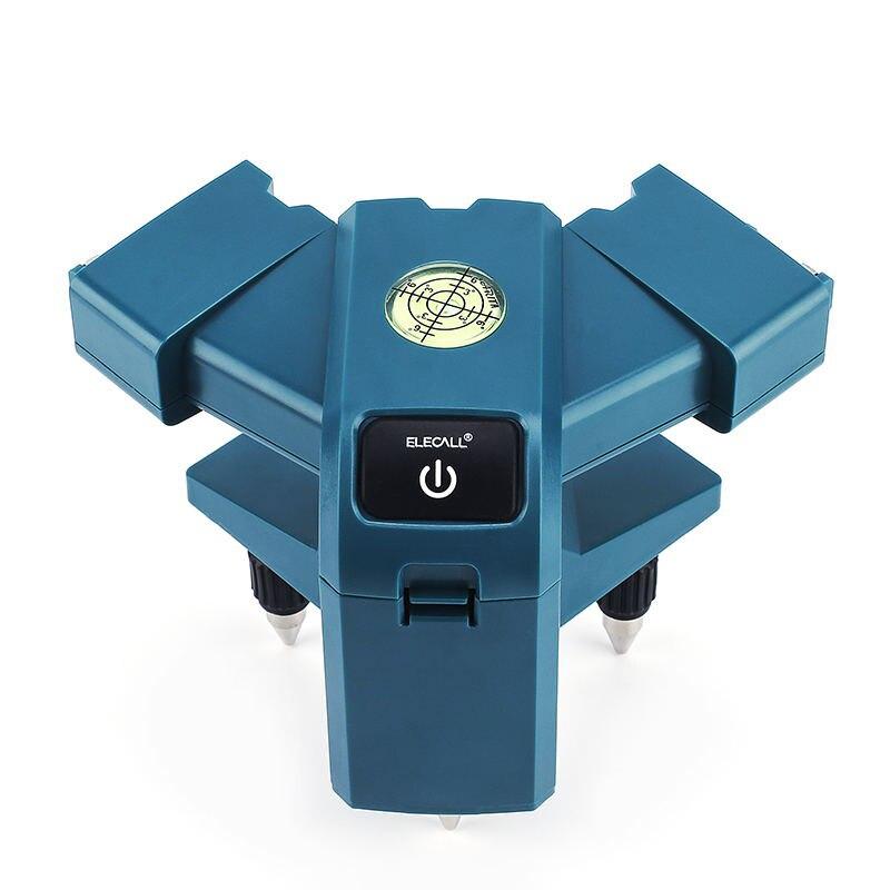 ELECALL EGVS3 Laser mètre 90 degrés à angle droit au sol, instrument de mesure infrarouge ligne niveau mètre ligne d'encre réglable