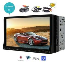 Wireless Back Camera+Android 7.1 Car dvd player WiFi Bluetooth FM Radio Touch screen in dash GPS Navigator Video Audio player