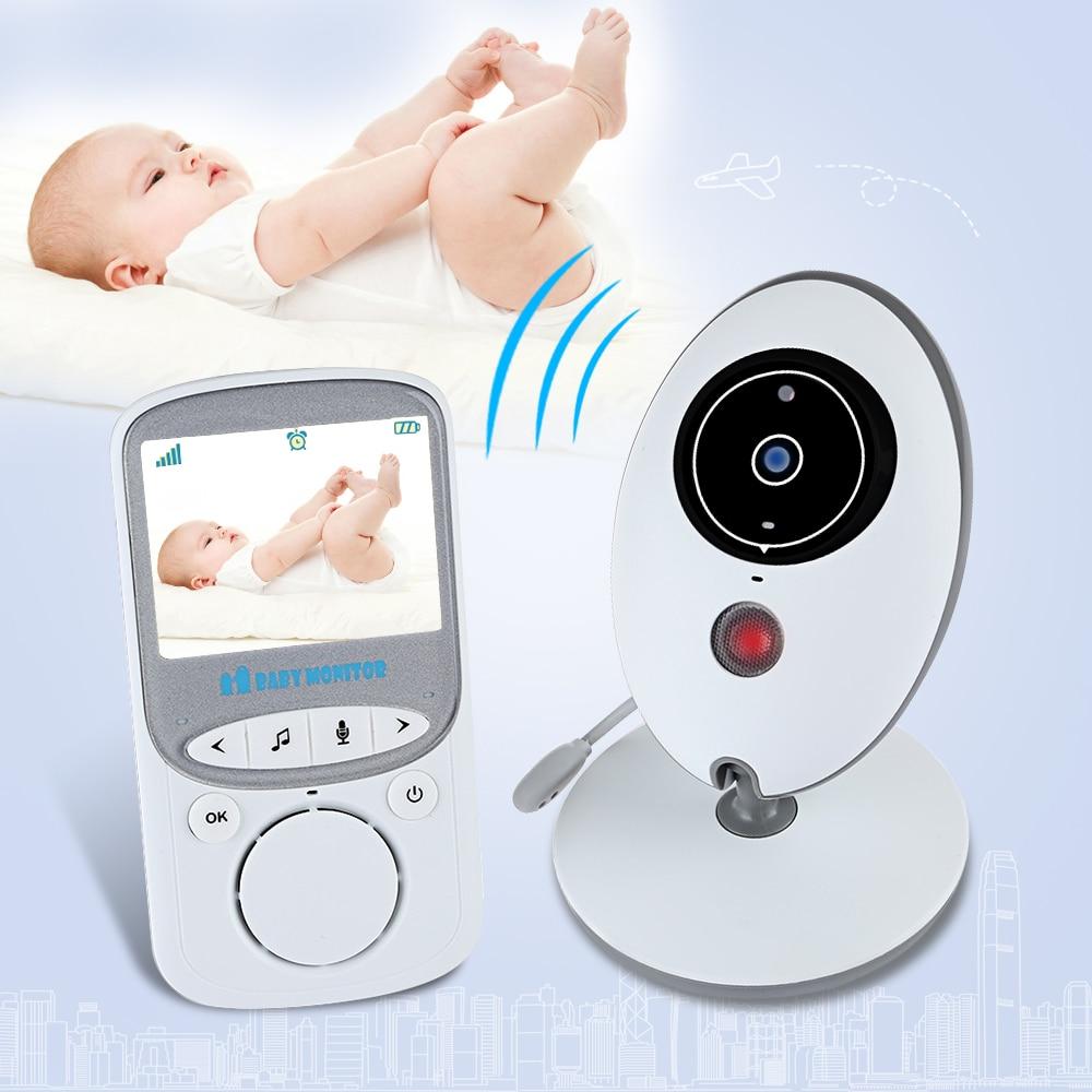 imágenes para Visión Nocturna inalámbrica Bebé Monitor de Video LCD Pantalla de Temperatura Monitor de Cámara de Música de Audio Radio Bebé Niñera Monitor