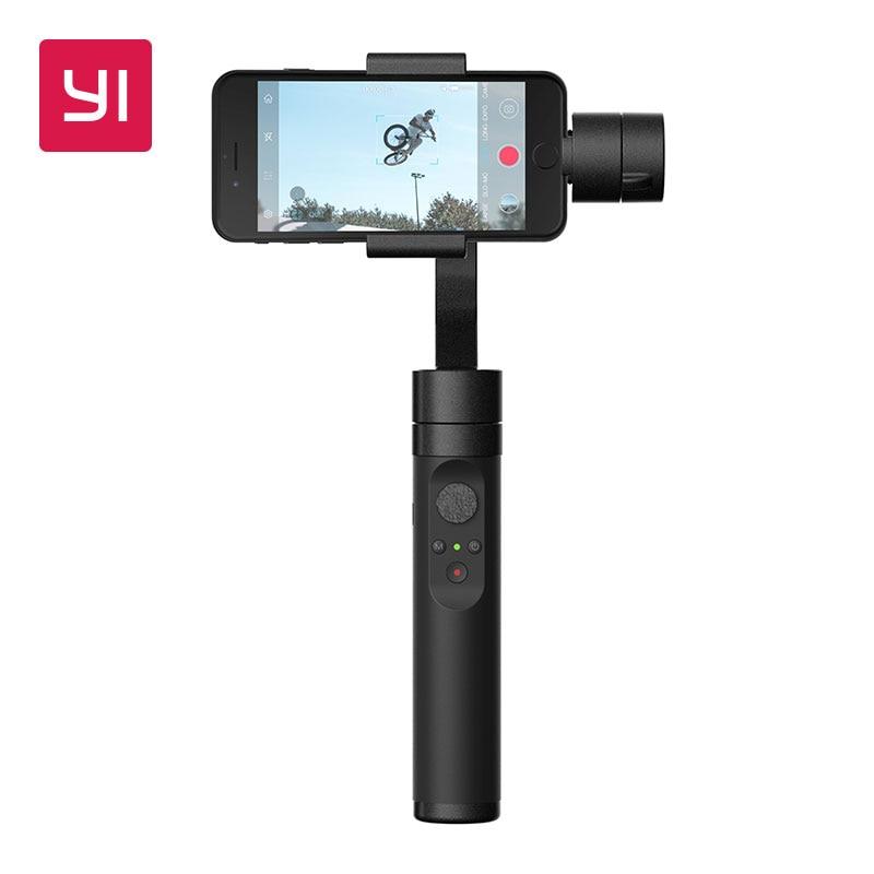 YI Hand Gimbal 3-achsen Handheld Stabilisator für Smartphone Oder YI 4 Karat, 4 Karat Plus, YI Lite Action kamera