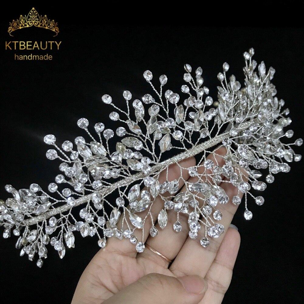 Accesorios para el cabello de la boda de la princesa Tiara nupcial de cristal hecho a mano personalizado de cristal real-in Joyería para el cabello from Joyería y accesorios on Aliexpress.com | Alibaba Group