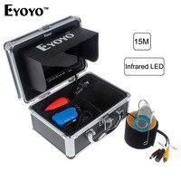 Eyoyo Original Underwater Fishing Camera 15M 1000TVL7 Color HD Monitor HD CAM Lights ON OFF Professional