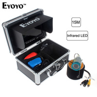 Eyoyo Original Underwater Fishing Camera 15M 1000TVL7 Color HD Monitor HD CAM Lights ON OFF Professional
