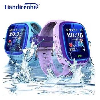 Смарт-часы DF25 IP67 с GPS, Детские водонепроницаемые часы с трекером, детские часы для плавания с сенсорным экраном, с кнопкой SOS, с защитой от пот...