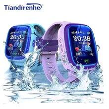 DF25 IP67 GPS akıllı saat çocuklar su geçirmez izci izle çocuk bebek yüzmek dokunmatik ekran SOS çağrı güvenli anti kayıp pk q50 q90