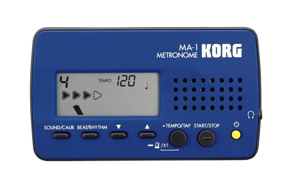 Korg MA1BL MA-1 Guitar Solo Metronome Visual Beat Counting Metronome, Blue korg ma 1blbk
