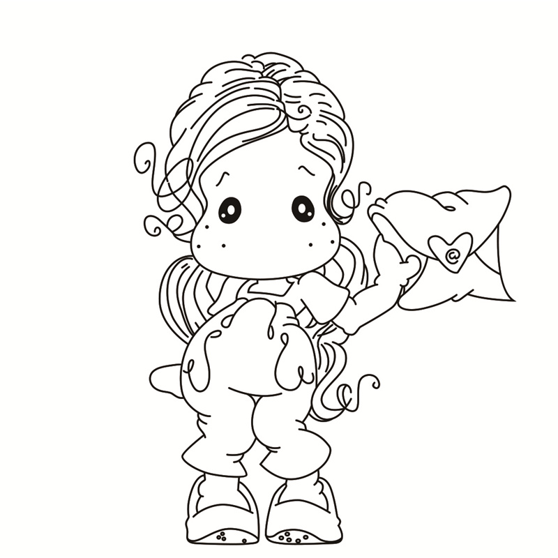 girl  Transparent Clear Silicone Stamp/Seal for DIY scrapbooking/photo album Decorative clear stamps