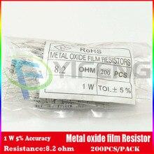 Новинка! (200 шт./лот) (металл-оксид резистор | 1 Вт) 1 Вт 5% оксида металла резистор 8.2 Ом