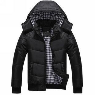 Inverno 2017 homens Homens jaqueta de inverno outerwear amassado jaqueta de algodão acolchoado grosso com capuz duck down & Parkas quente À Prova D' Água A1884