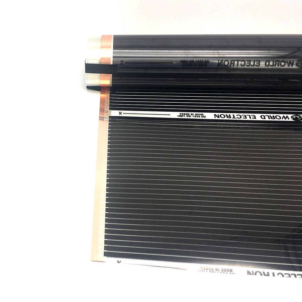 400 w/m2 podczerwieni węglowa folia grzewcza podłogowa AC220V ciepła mata podłogowa