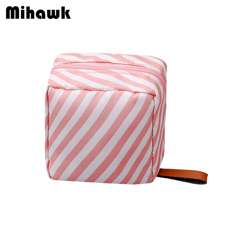 fd20fa8f2855 Mihawk Nylon Cosmetic Bag Mirror Perfume Beauty Case Blush Waterproof Makeup  Toiletry Pouch Special Purpose Bags