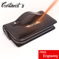 Genuine Leather Handbags And Purse Double Zipper Man Wallets Long Phone Wallet Man S Clutch Bags