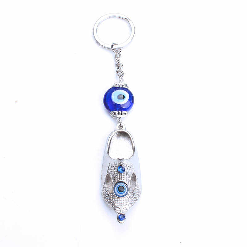 ... 1pc Lucky turkey evil eye blue owl elephant animal key chain keyring  for women handbag decoration 27036e41c4