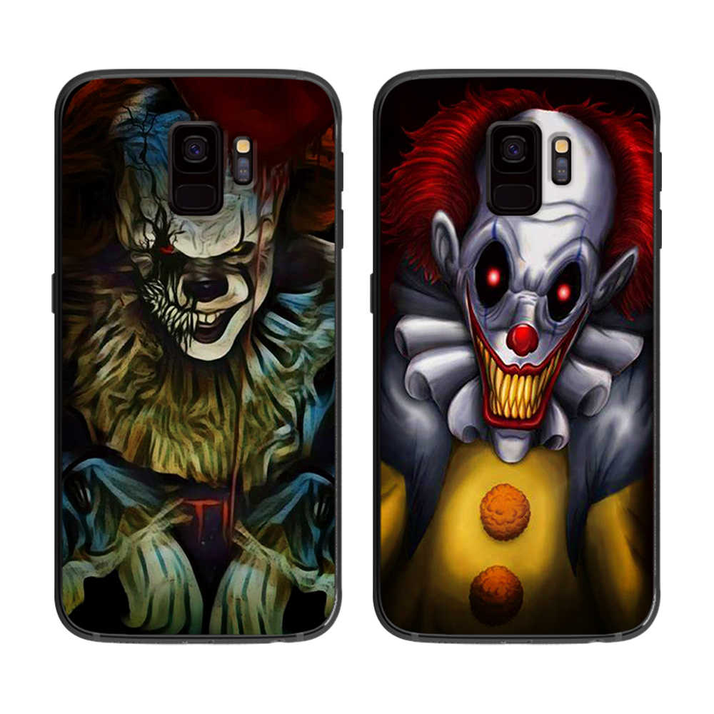 Pennywise ピエロサムスンギャラクシー A5 A6 A7 A8 A9 2017 電話カバープラス M10 M20 M30 シリコーン電話ケース