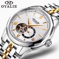 OYALIE мужские часы лучший бренд класса люкс Япония высокого качества часы из нержавеющей стали металлический ремешок relogio masculino полые наручны