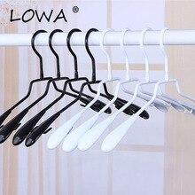 5Pcs Clothes Hanger Plastic Coat Hangers Like Spoon Cabide Wieszak Perchas Para La Ropa Kids Women Man Black/White 33/38/43cm plastic hangers 5pcs