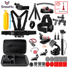 SnowHu Adjustable Harness Chest Strap Mount For Gopro Hero 8 7 6 5 4 3 Session SJCAM SJ4000 SJ5000 Xiaomi Yi 4K EKEN h9 GS84 shoot 19 49cm portable selfie stick extend monopod for gopro hero 7 5 6 session xiaomi yi 4k sjcam sj4000 sj5000 eken h9 camera