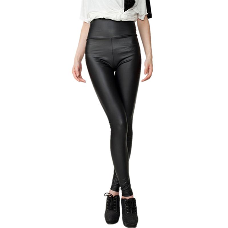 NXCY01 Pantalones Moda Serpentina Polainas Atractivas for Mujer Leggins Estiramiento de Cintura Cuero de imitaci/ón Plus Tama/ño YAK0010 Color : Matte Black, Talla : XS