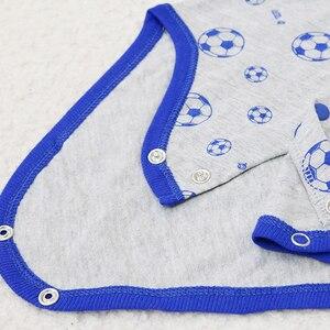 Image 5 - 2020 Nhỏ Mới Q Nữ Tay Ngắn Một Mảnh Bodysuits 10 Cái/lốc Sơ Sinh Nguyên Chất 100% Cotton Quần Áo Bé Gái Mùa Hè Trẻ Em In Hình quần Áo