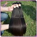 Unice productos para el cabello virgen 7A peruano de la virgen yaki luz del pelo Bundles 4 unids 100 g trama de la máquina del pelo humano de la armadura de yaki del pelo recto