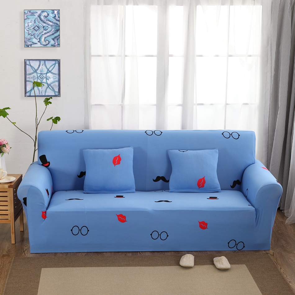Light Blue Couch Sofa Covers For Living Room Single Double