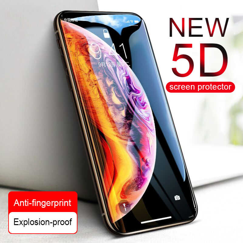 5D Curved Full Cover Tempered Glass On The For IPhone 6 6s 7 8 Plus XS Max XR X Protective Glass 7 8 xs xr Screen Protector Film