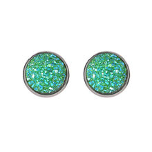 1 Pair Sell Shine Ear Clip Earrings For Women 10 Colors Round With Cubic Zircon Women fashion Jewelry Gift(China)