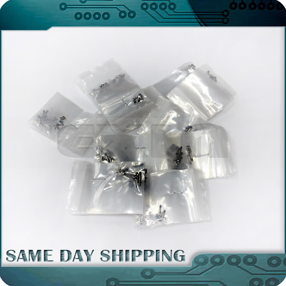 100Sets/Lot for Macbook Pro 13 15 A1278 A1286 A1297 Lower Bottom Screws Case Cover Screws Set 2008 2009 2010 2011 2012 Years 10pcs bottom case screws set for apple macbook pro a1278 a1286 a1297