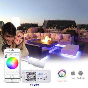 Светодиод BT RGBW Mini, контроллер постоянного тока 12-24 В, 4 канала, Bluetooth RGBW, светодиодный контроллер, IOS, Android, приложение для RGB RGBWW, светодиодный св...