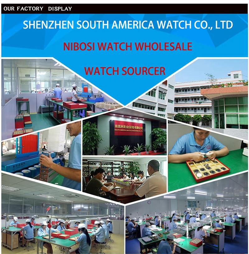 2018 NIBOSI Gold Quartz Watch Top Brand Luxury Men Watches Fashion Man Wristwatches Stainless Steel Relogio Masculino Saatler 90