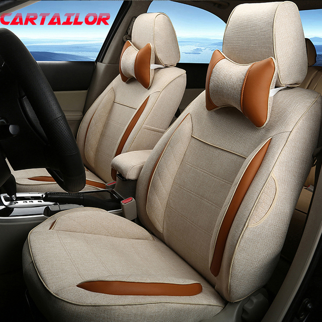 CARTAILOR Cover Seats Fit For Suzuki Jimny Car Seat Covers 5 Linen Auto Protector