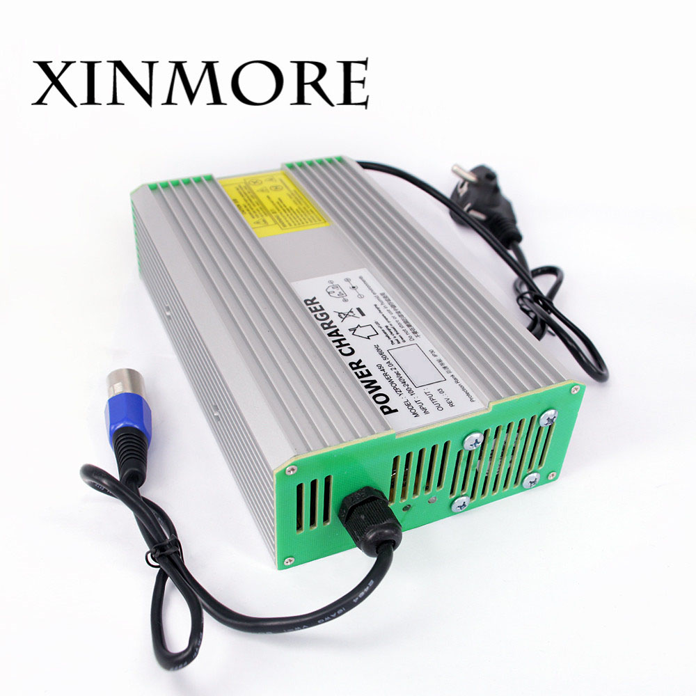XINMORE AC-DC 58.8V 8A 7A 6A Lithium Battery Charger for 48V (51.8V) Li-ion Polymer Scooter Ebike for Electric bicycle solar charger special single section li ion battery charging board lithium polymer battery