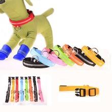 цена LED Nylon Pet Dog Collar Night Safety LED Light-up Flashing Glow in the Dark Lighted Dog Collars Free shipping 50pcs/Lot онлайн в 2017 году