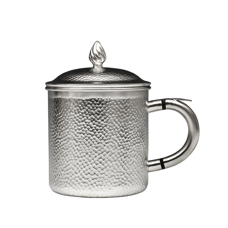 Pure Silver Series Silver Cup Tea Cup 999 Pure Silver Mark Cup Pure Handmade Pure Silver  Household Heat Insulation Cup Tea Set