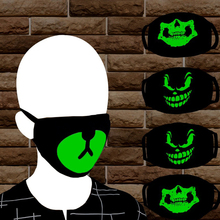 Fashion Unisex Cosplay Party Cool Luminous Anti Støv Cotton Clean Mouth Mask