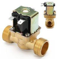 Новый 3/4 дюймов NPSM 12 В DC Тонкий латунный Электрический электромагнитный газовый клапан Вода Воздух нормально закрытый 2 способ 2 положения д...