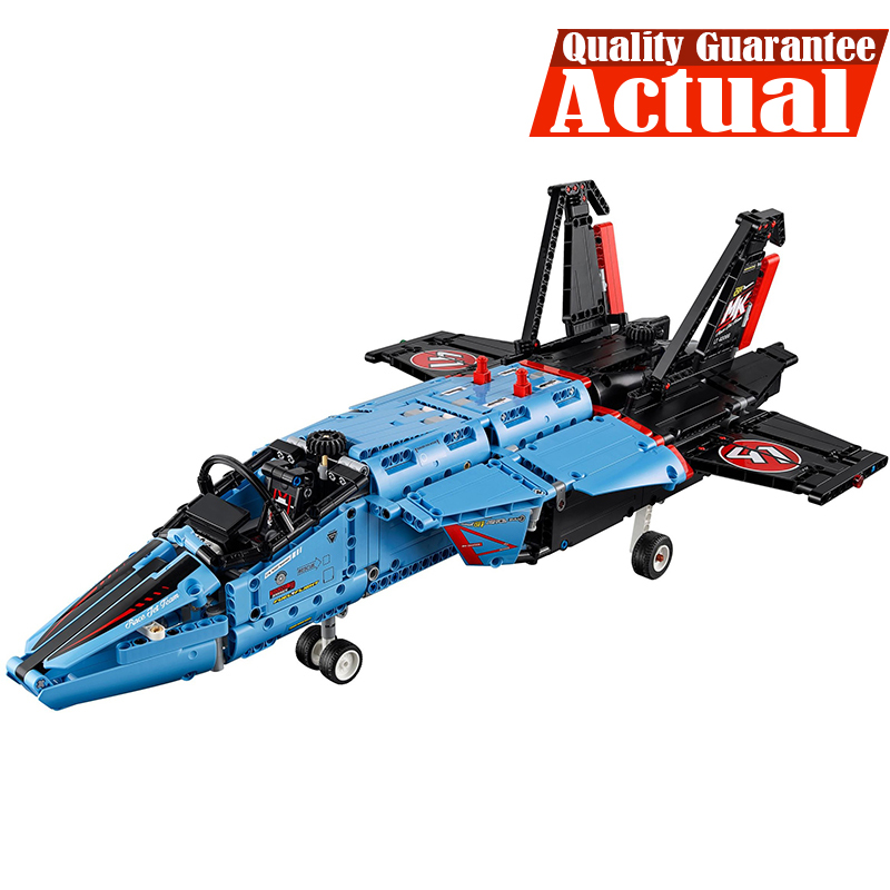 LEPIN Technic 20031 Air Race Jet Aircraft Model Building Blocks Brick Kits DIY Model Toys for children 1151pcs Compatible 42066 lepin legoing 42066 1151pcs technic series the air race jet model building blocks bricks gifts toys compatible 20031