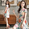 Senanry Summer New Chiffon Comfortable Cool Dress With Chinoiserie For Beach