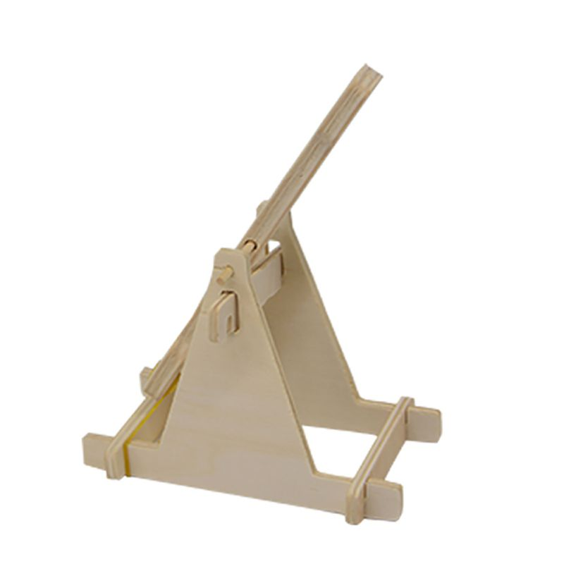 Wooden boulder technology small production of small invention diy material suite ancient catapult siege catcher TQ