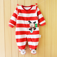 цена на Baby Rompers Christmas Baby Boy Clothes Newborn Clothing Polar Fleece Baby Girl Clothes Roupas Bebe Infant Baby Jumpsuits