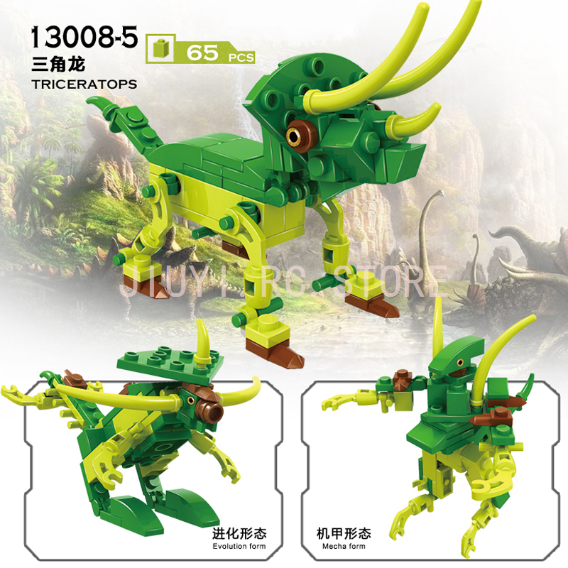 Compatible Legos 8in1 Tyrannosaurus Raptor Stegosaurus Leilong Dinosaur Series Building Blocks Educational Toys For Kids 13008
