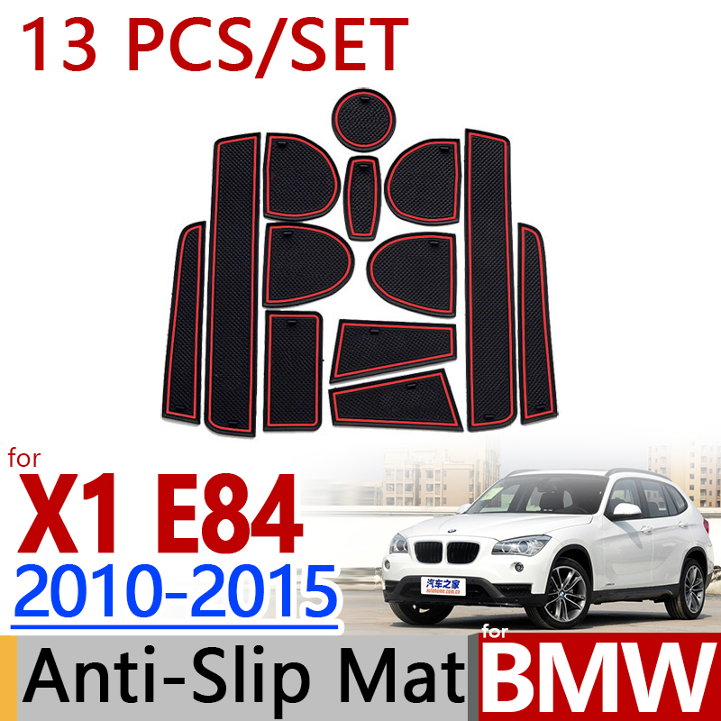 Custom Car Floor Mats for BMW X1 E84 2010-2014 2011 2012 2013 Full Coverage All Weather Protection Waterproof Non-Slip Leather Liner Set Red