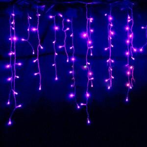 Image 3 - Luci della stringa di Natale decorazione esterna di Goccia 5m Droop 0.3m/ 0.4m/0.5m stringa tenda ghiacciolo luci led Da Giardino Del Partito 220V