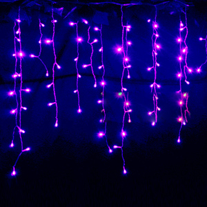 Image 3 - String lights Christmas outdoor decoration Drop 5m Droop 0.3m/ 0.4m/0.5m curtain icicle string led lights Garden Party 220V 110V