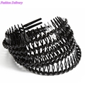 3pcs/lot Black Hair Bows Girls Hair Accessories Korea Style Headbands With Combs Fashion Hair Styling Tools Free Shipping