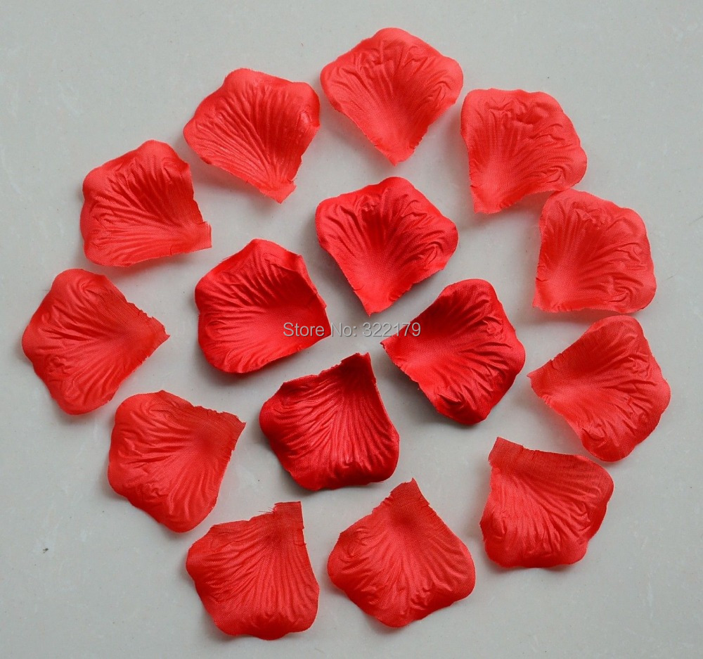 Online get cheap wholesale silk flowers bulk aliexpress free shipping 1000pcs red rose petals for wedding party decor cheap silk flower red petals wholesale bulk dhlflorist Choice Image